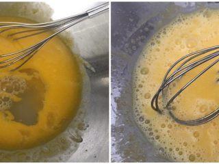 超滿足的肉松小貝,加入牛奶(水)攪拌均勻;