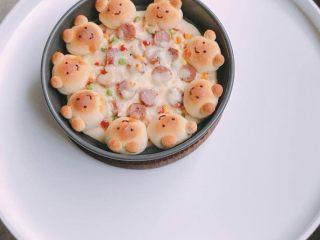 可爱小熊披萨
