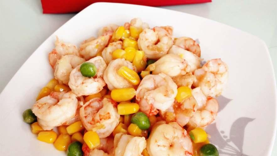 玉米豌豆虾仁