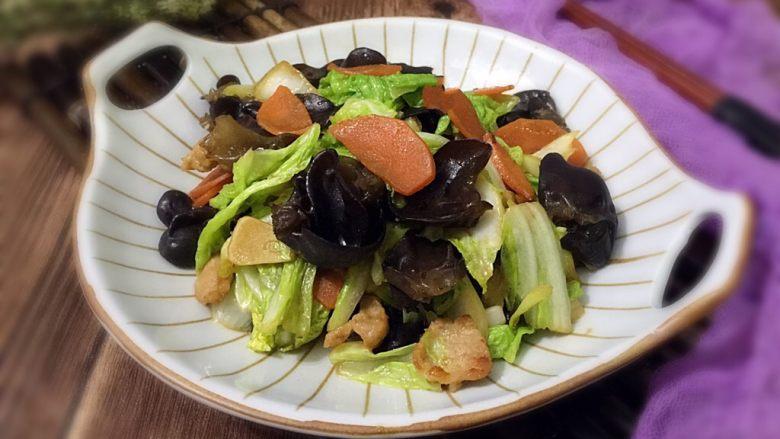 黑木耳炒白菜