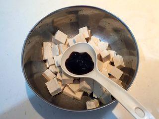 孜然千叶豆腐串,加入蚝油