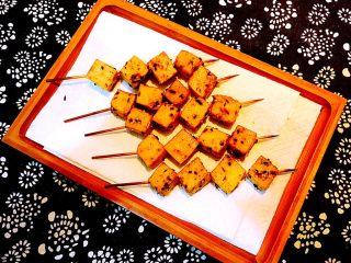 孜然千叶豆腐串,非常独特的千叶豆串,烧烤味道