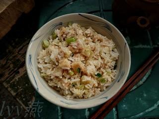 #炒饭秀#芋头炒饭,材料的量根据自己实际情况决定增减,我这次大概炒5碗米饭