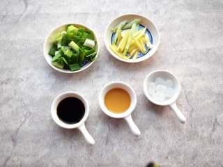 冬季常吃的食材:排骨炖白萝卜,准备调料