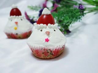可爱的圣诞杯子蛋糕,超级萌奥