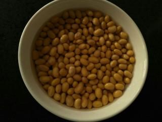 ♡胡萝卜豆浆♡,浸了一晚的黄豆的样子~😊