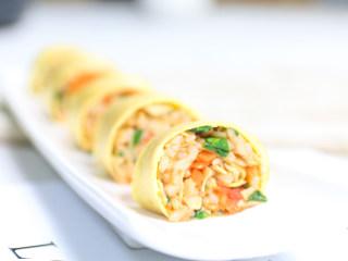 杂蔬米饭蛋卷