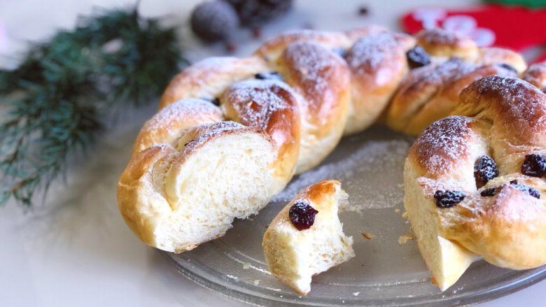 圣诞花环面包,和你的他/她一起分享吧