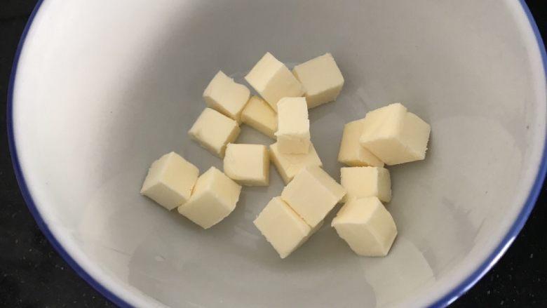 双色棋格小饼干~圣诞美食,A部分:黄油室温自然软化