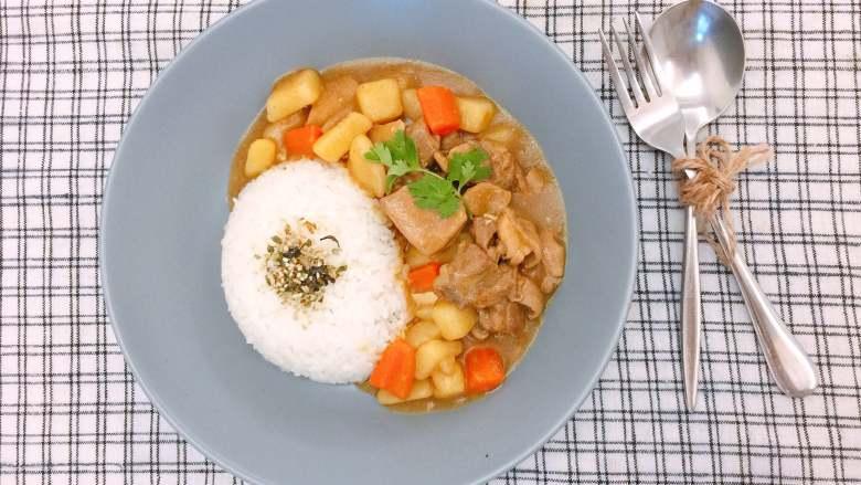 #吃鸡#日式咖喱鸡腿饭