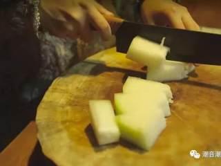 肉丸菜脯焖冬瓜,❥ 冬瓜挖籽块成块状