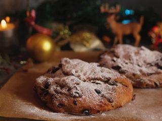 著名的德国传统圣诞面包【史多伦】,成品