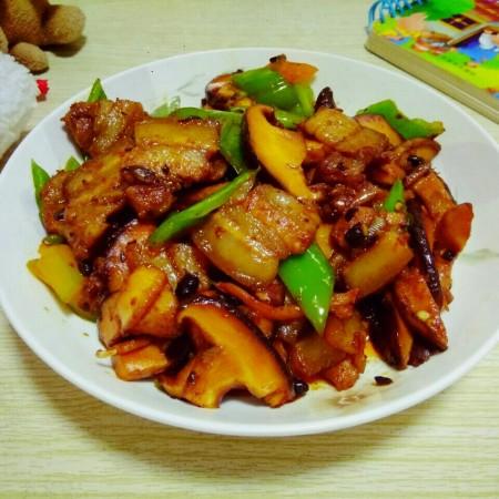 豆豉香菇五花肉