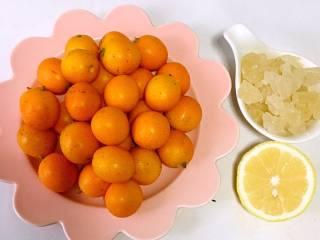 止咳金金桔酱,金桔/500克  冰糖/100个  柠檬/小半个