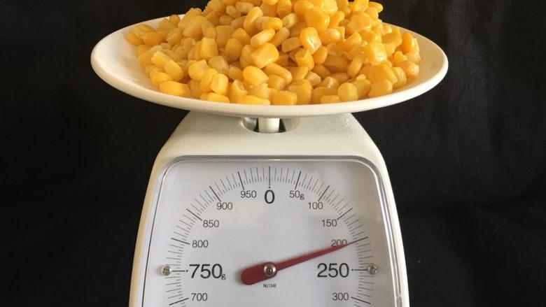 玉米烙,称取玉米粒