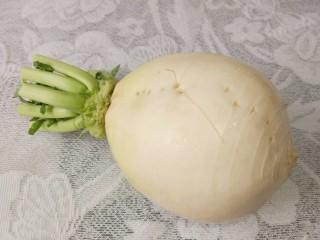 羊肉汤 ,白萝卜一个