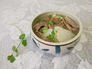 羊肉汤 ,洒香菜,好香啊!