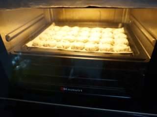 奇亚籽藜麦玛格丽特小饼,将烤箱预热上下火180°C,中层烤至15分钟即可