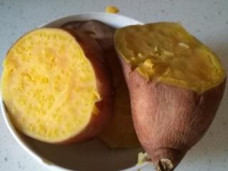 红薯糯米丸子,红薯蒸熟