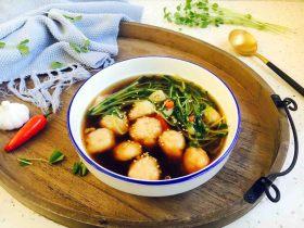 黑胡椒酸辣鱼丸汤