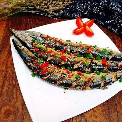 福州+香煎秋刀鱼,成品图