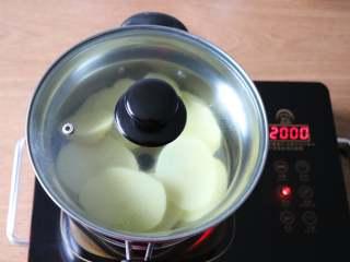 圣诞树沙拉,放入蒸锅中蒸熟;