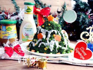 圣诞树沙拉,成品。