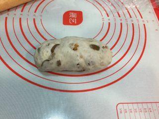 全麦坚果软欧,或擀成细长片,从上往下卷起,捏紧收口朝下放入烤盘,盖上保鲜膜