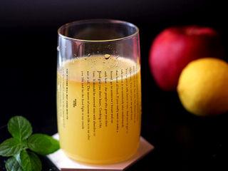 酸甜爽口的饮品---柠檬苹果汁,成品