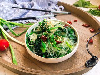 厨房挑战➕素菜➕粉丝菠菜小炒