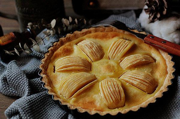 酥脆果香滴法式苹果派,成品