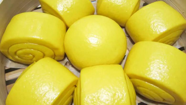 金黄金黄的南瓜馒头