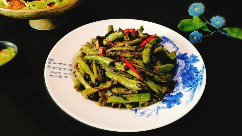 厨房挑战+素菜~豆角橄榄菜