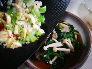 牡蛎菠菜,淋在菠菜上 妥妥哒 开吃