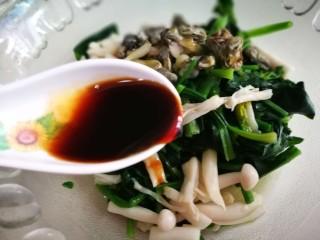 牡蛎菠菜,加入少许盐白糖姜汁和生抽
