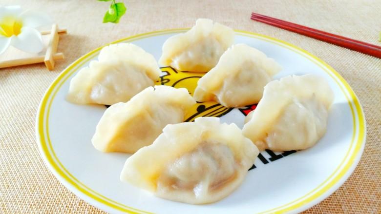 韭菜肉蒸饺,做好的蒸饺