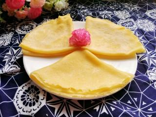 牛奶雞蛋玉米餅,成品圖來一張,美美噠!