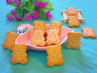 小熊饼干,成品图。
