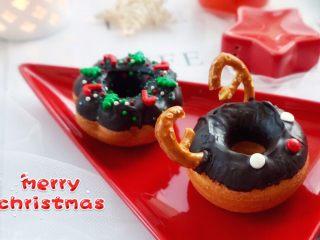 甜美可爱的圣诞甜甜圈,好看又好吃~
