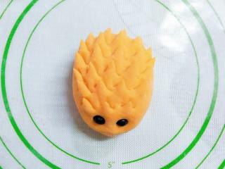 猪猪奶黄包,黄色的刺猬包,可爱极了!