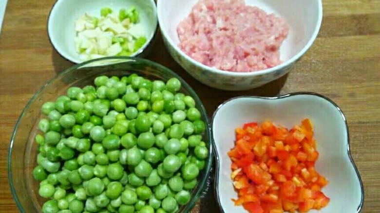 厨房挑战+荤菜+烂肉豌豆(肉末豌豆),准备工作已做好
