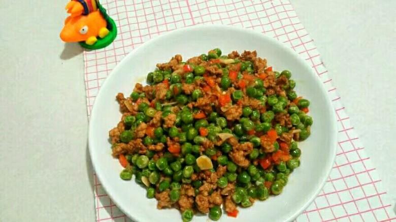 厨房挑战+荤菜+烂肉豌豆(肉末豌豆),一道好吃的下饭吃就做好了