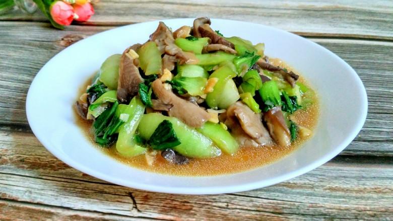 平菇炒油菜