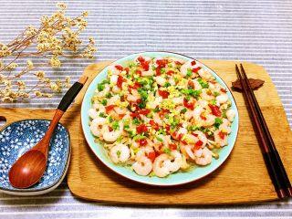 金针菇粉丝蒸虾仁