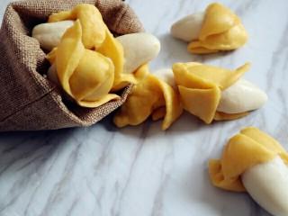 宝宝版香蕉馒头,很可爱的造型馒头,吃不了装袋以免干巴