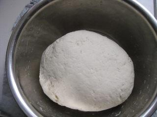 山东大馒头,继续揉至三光状态,手光滑、盆光滑、面光滑;面盆放在温暖的地方发酵