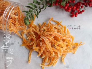 糖渍橙皮,酸酸甜甜的,当小零嘴最合适不过了!