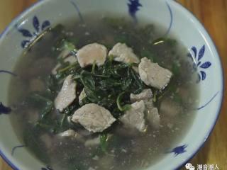 枸杞叶瘦肉汤,❥ 最后,成品完成,请享用吧