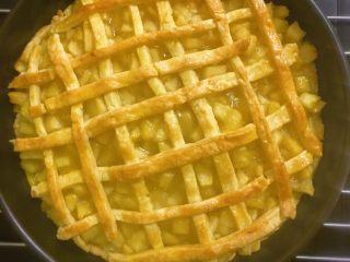香甜的苹果派,烤箱190度预热,烤15分钟后转170度再烤20分钟。