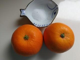 橙香红茶芋头磅蛋糕,橙子用盐搓洗干净
